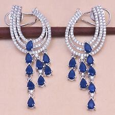 American Diamond Exclusive Stunning Designers Sapphire Earring Set 1203 2E 07