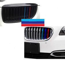 4D Carbon Fiber M-Colored Stripe Decal Sticker Fit BMW M3 M5 M6 E46 E39 E60