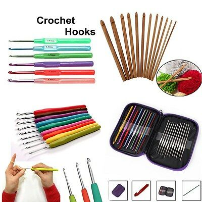 22pcs//Set Aluminium Crochet Crochets Aiguilles Knit Multi Color Weave Craft Yarn METAR