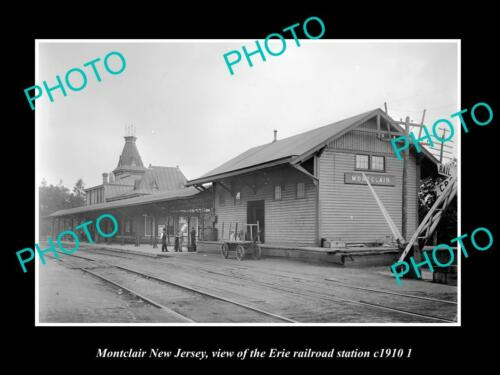 OLD 6 X 4 HISTORIC PHOTO OF MONTCLAIR NEW JERSEY, ERIE RAILROAD STATION c1910 2