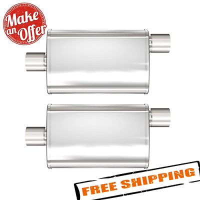 """Magnaflow 13214 Pair of Universal 4/"""" x 9/"""" Oval Mufflers 2/"""" In//Out"""