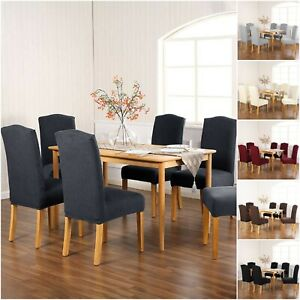 2-4-6-PCS-Dining-Chair-Covers-Removable-Slipcover-Elastic-Band-For-Home-Hotel