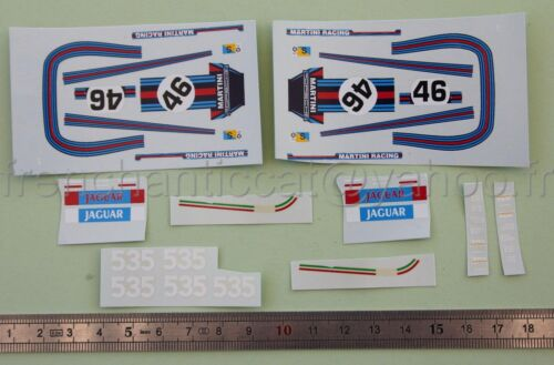 Vehículo DN Miniatura 1//43 Calcomanía PORSCHE 911 RSR Martini Le Mans 73 heco