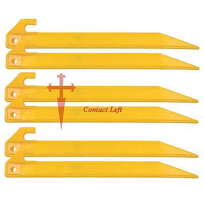 "NEW 22.5cm//9/"" PLASTIC ANGLE PEG 6 CAMPING BUSHCRAFT h"