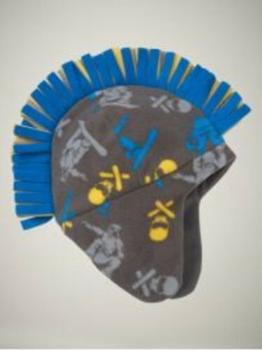 NWT Kid GAP Boys Pro Fleece Mohawk Trapper Hat Guitar Snowboarder NEW S//M L//XL