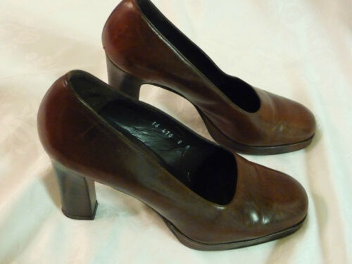 EUC Vintage ( 90s ? ) DKNY Medium Brown Platform H