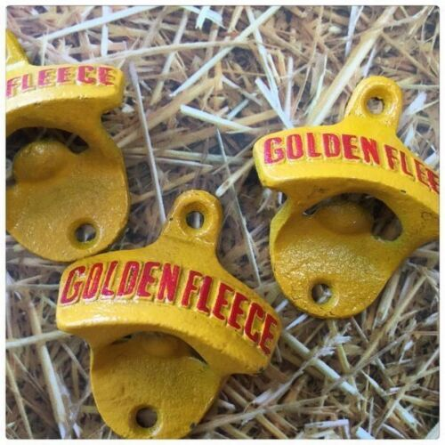 Cast Iron Golden Fleece Motor Oil Bottle Opener New Mancave Wall Mount.