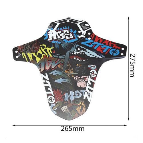 1pc Black Mountain Bike Fender Bicycle Front Rear Mudguard 26.5 x 27.5cm JYODLO