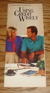 Original 1987 Chevrolet General Motors GMAC Using Credit Wisely Brochure 87