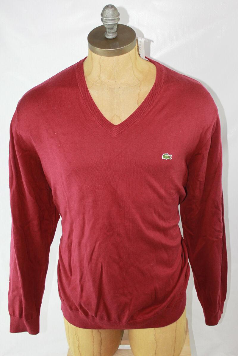 AUTH Lacoste Men Cotton Sweater 8 XXL