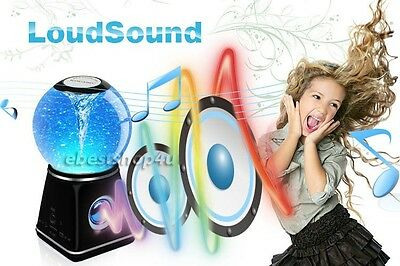 Kocaso Bluetooth Speaker Wireless Portable PC Funny Water Dancing Ball Black