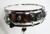 """Piccolo Snare Drum 14"""" x 4"""" Pure Steel Shell Mirror Chrome Finish NEW"""
