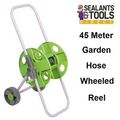 Silverline Portable Hose Pipe Trolley Reel Garden Hose Cart 45M Hose Reel 686867
