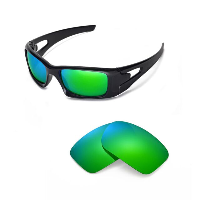 701cc4ff60a Walleva Polarized Emerald Replacement Lenses for Oakley Crankcase Glasses  for sale online