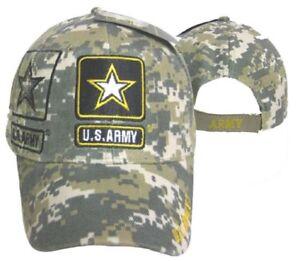 U.S. Army Star Shadow Camouflage Digital Embroidered Baseball Cap CAP601SC TOPW