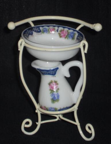 Puppenstube/Puppenhaus  #15# Waschständer mit Zubehör,Maßstab 1:12,Miniatur f.d Puppenstuben & -häuser