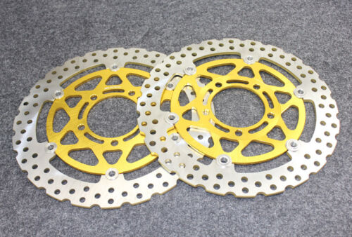 ZX600 R9F//RAF//RBF 2009-2011 Gold Front Brake Disc Rotors For Kawasaki ZX-6R