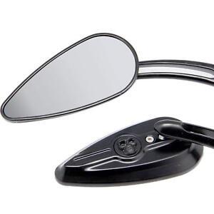 Black-Aluminum-Skull-Mirrors-Fit-For-Harley-FXST-XLH-Sportster-Roadster-XLS-AU
