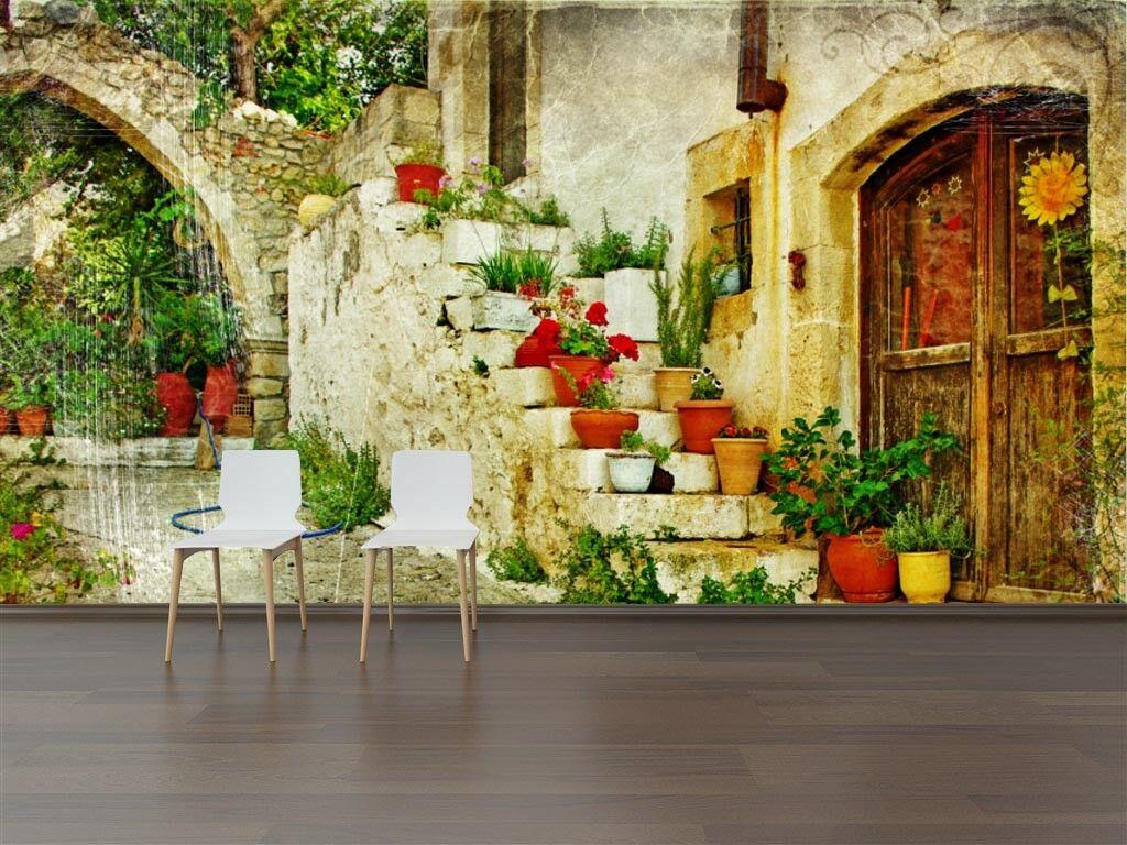 3D Schöne Pflanzen Tür 73 Tapete Wandgemälde Tapete Tapeten Bild Familie DE