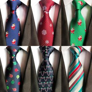 Men-Tie-Christmas-Tree-Animal-Prinetd-Necktie-Snowmen-Pattern-Cravat-Neck-Ties