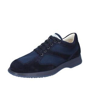 Chaussures Hommes HOGAN 6.5 (39,5 EU) Baskets Daim Bleu BQ105-39, 5