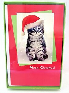 American greetings christmas cards boxed kitten meowy christmas 16 image is loading american greetings christmas cards boxed kitten meowy christmas m4hsunfo