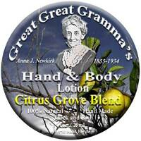 Hand & Body Lotion- Citrus Scent - Thick, Rich & Vitamin Full - Usa Made