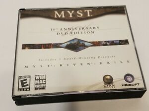 MYST 10th Anniversary DVD Edition Myst Riven Exile (Windows/Mac 2003) 3 Disc Set