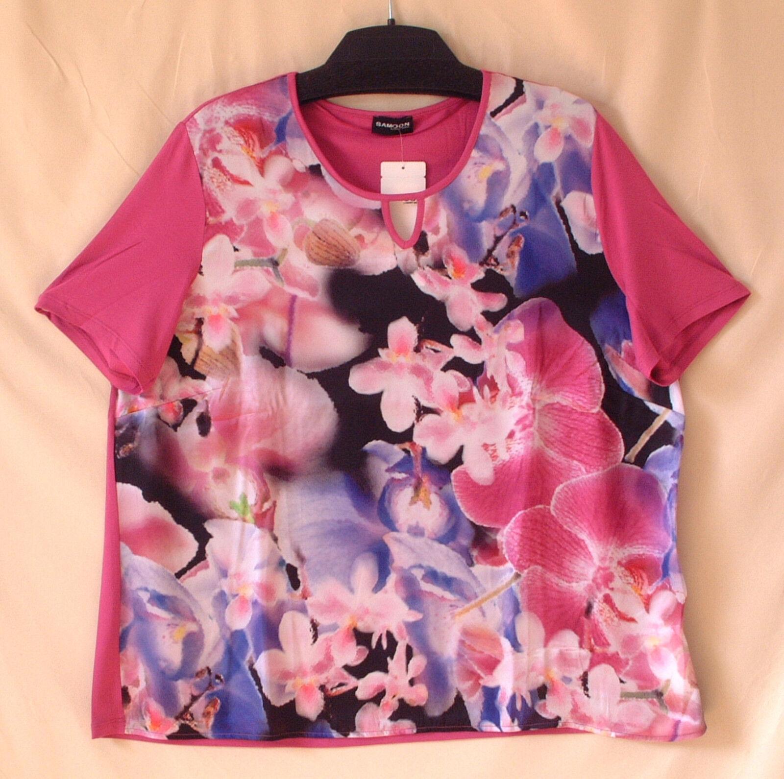 Samoon Shirt by Gerry Weber florales Stretchshirt Mischgewebe Neu Damen Gr.48
