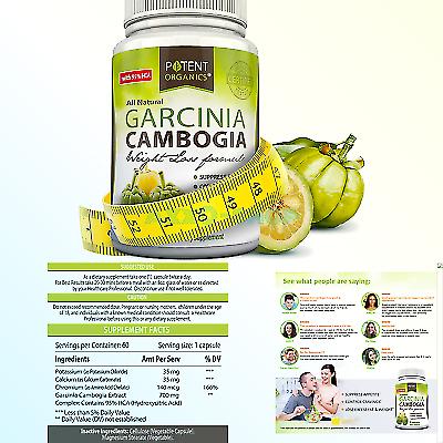 Potent Organics Pure Garcinia Cambogia 180 Capsules