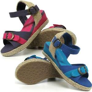 GIRLS-SUMMER-SANDALS-INFANTS-FANCY-WEDGE-HEELS-PARTY-EVENING-BEACH-SHOES-SIZE