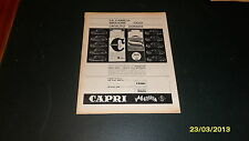 Advertising Italian Pubblicità: CAPRI VALLESUSA CAMICIE **1961**