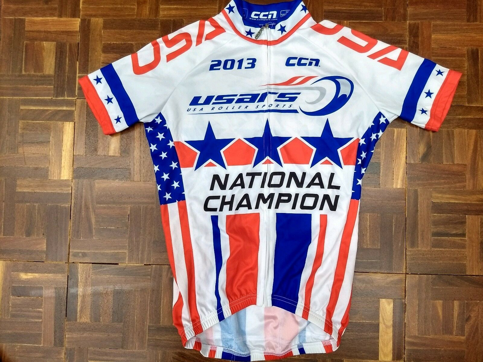 2013 CCN   USARS USA NATIONAL CHAMPION Roller Skating Jersey Size Small