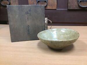 Y0817-CHAWAN-Koset-Ko-Seto-ware-bowl-kintsugi-box-Japanese-pottery-Japan-antique