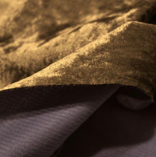 Mv10 L-Brown Crush Velvet Sofa Seat Patio Bench Box Cushion Bolster Cover//Runner