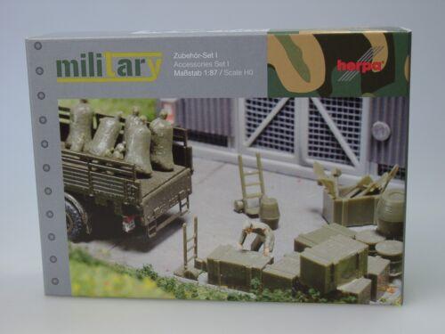 - 745840 Herpa military accesorios: carretilla carretillas barriles 144 piezas
