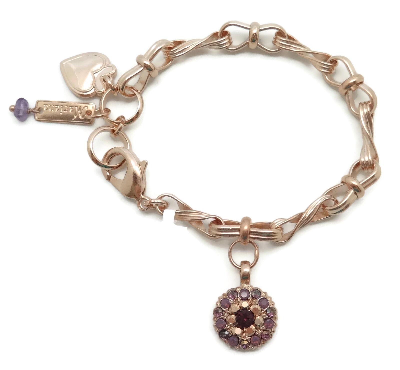 MARIANA Guardian Angel Swarovski pink gold Bracelet Bohemian Rhapsody 1072