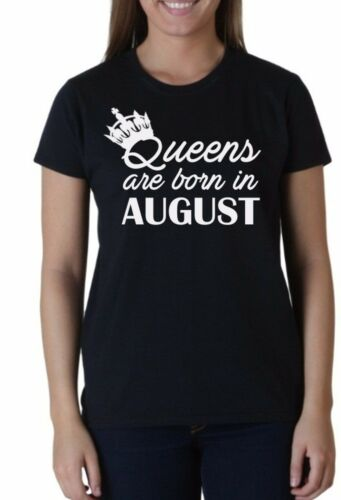 #2 Birthday Gift for Women Shirt Queens Are Born in August T-Shirt Present Tee