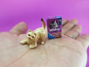 Dollhouse-Miniatures-Handmade-Cats-figurine-for-Collectible-with-Whiskas-box