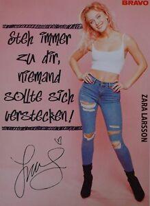 ZARA-LARSSON-Autogrammkarte-Signed-Autograph-Autogramm-Fan-Sammlung-NEU