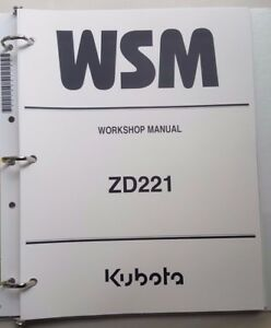 2009 kubota zd221 zero turn tractor workshop manual ebay rh ebay com Kubota ZG23 Owner's Manual Kubota ZG23 Specs