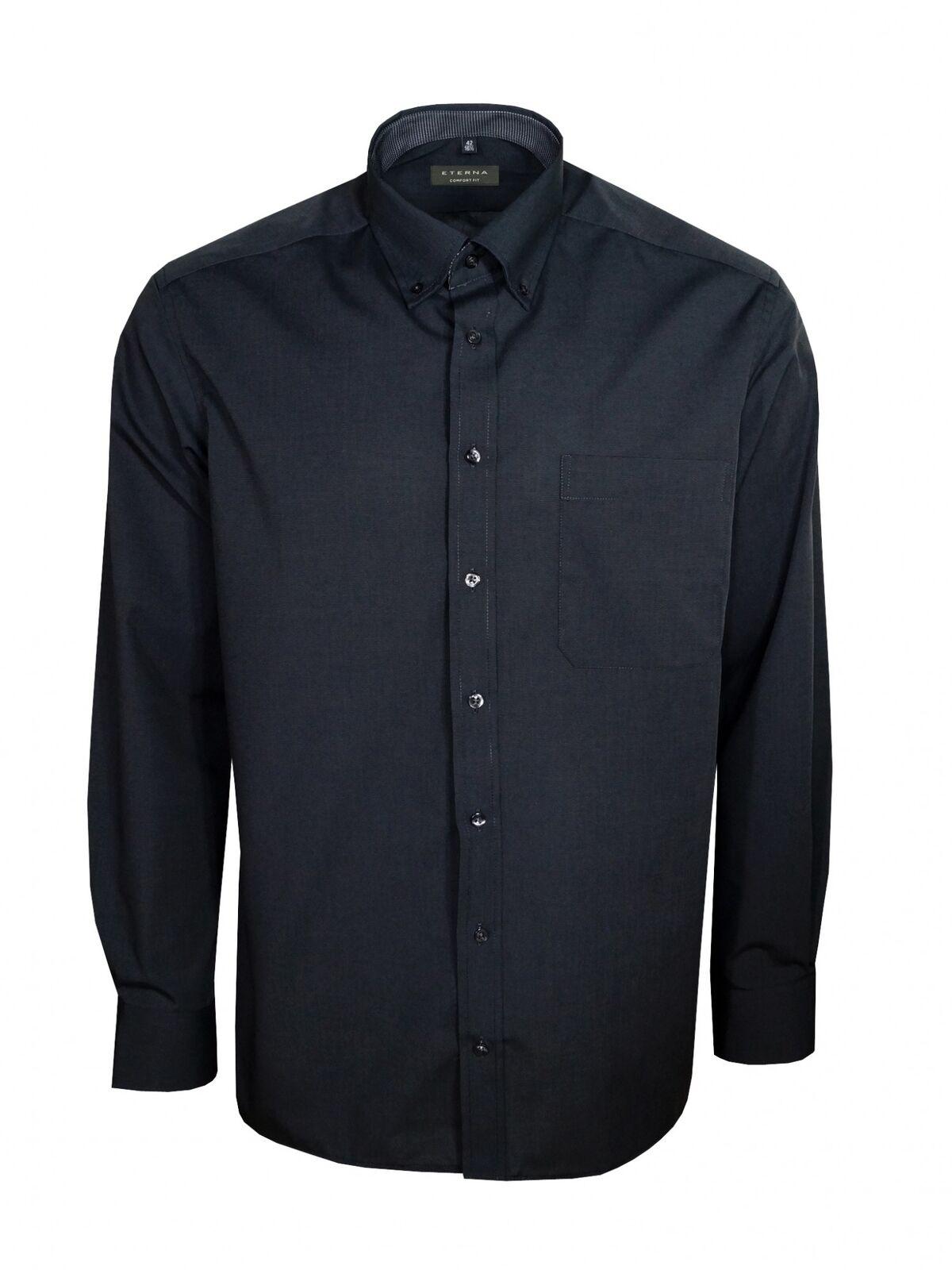 Eterna Herren Hemd Langarm Comfort Fit Business Hemden 3070 38 E144 Grau L 42