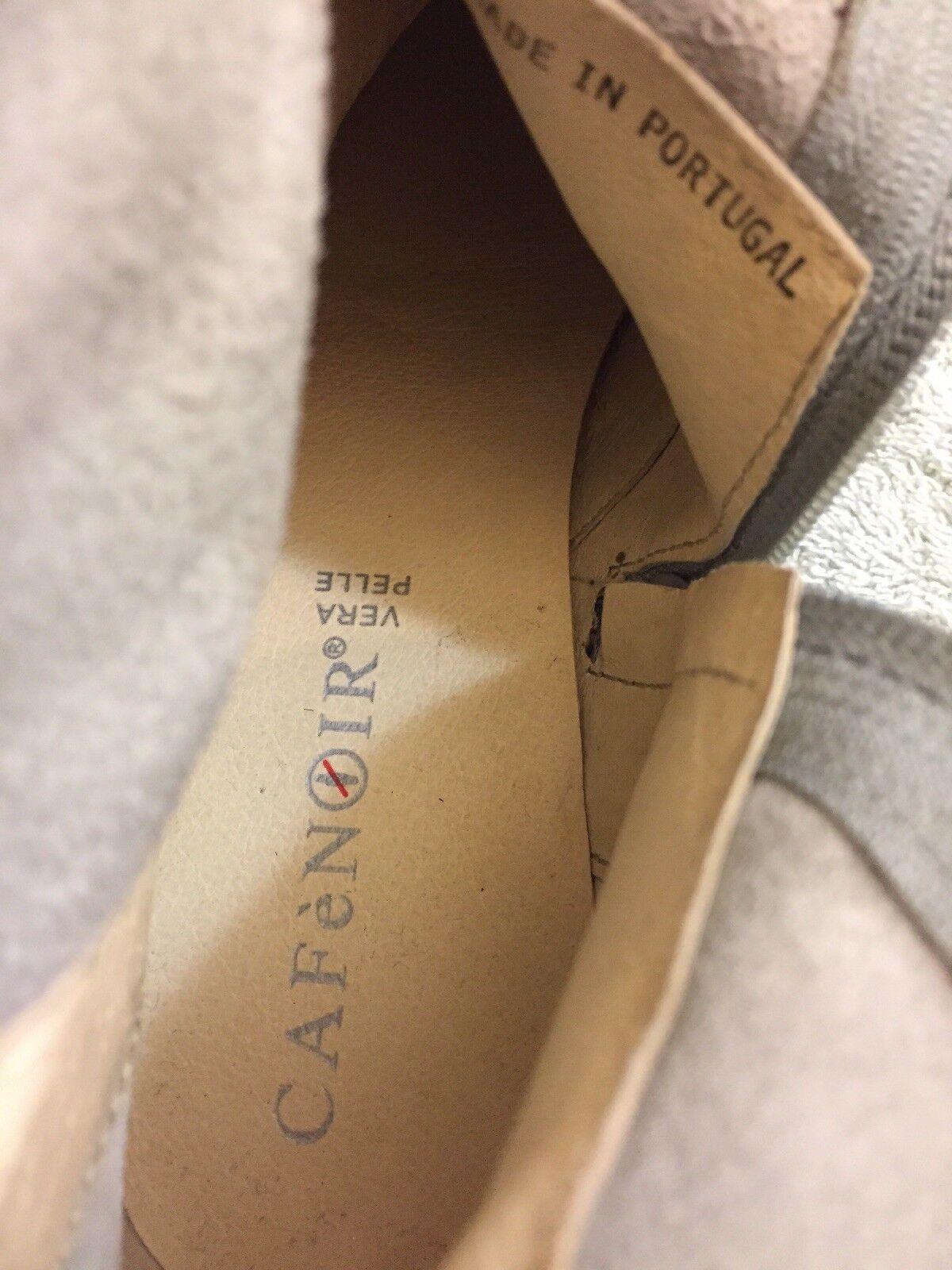 CAFE NOIR Silver Distressed Leder Leder Leder Ankle Stiefel Größe EU 39-9 Us f54301