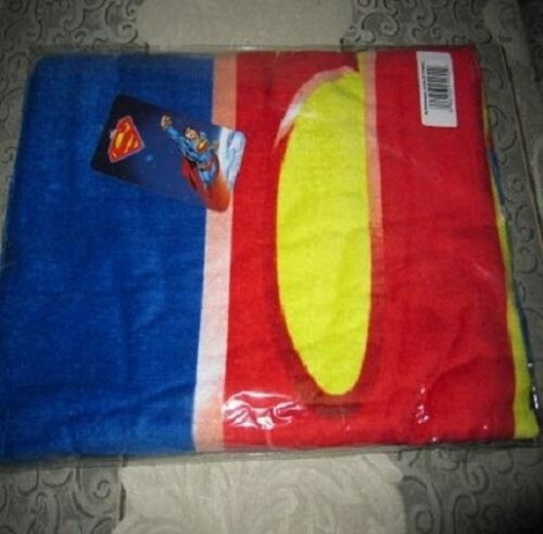 New 30X60 Superman S Shield Beach Bath Pool Towel Gift DC Comics NIP Super Hero