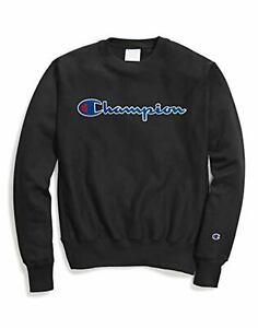 Champion LIFE Mens Reverse Weave Sweatshirt oxford gray//CHAINSTITCH script X-Large