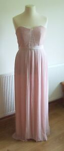 BNWT-New-Look-pale-pink-pleated-evening-dress-size-14
