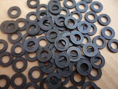 100 x 3 mm Clear Nylon plastique Spacer Rondelle pour vis M5 et Boulons