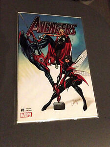 AVENGERS-1-RARE-J-SCOTT-CAMPBELL-RED-SPIDER-MAN-VARIANT-NM