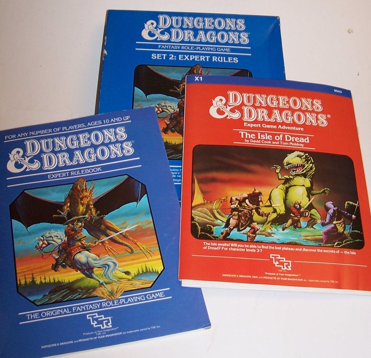 Vintage 1983 TSR Dungeons & Dragons Set 2  reglas de expertos 1012