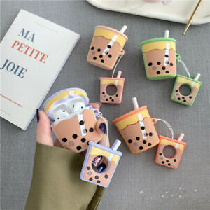 3d Cute Milk Tea Drink Cup Earphone Bag Cover For Apple Airpods Case Holder Bag Ebay